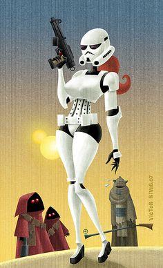 Stormtrooper pin-up girl.