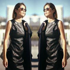 #stealthelook #look #looks #streetstyle #streetchic #moda #fashion #style #estilo #vestido #couro #leather #dress