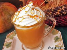 Hot Caramel Apple Cider.  Has caramel topping in it...add a little more than what the recipe calls for