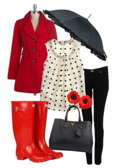 Cute rainy day outfit!
