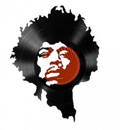 Cut Vinyl Record Portraits of Famous Musicians.  I bet ME ON A PUMPKIN software could make the graphic design work easier.