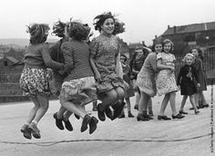 jump - we did this recess after recess. I loved jumping rope. Remember @Michelle Flynn Adams and @Kathy Chan Dowd
