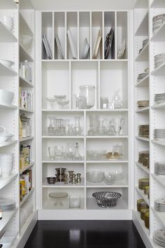 Closet for dishes.