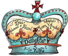 god, faith, princess crowns, jesus, art, inspir, daughters, quot, king