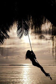 silhouett, beach sunsets, rope, summer beach, at the beach