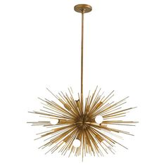 Gold Starburst Chandelier
