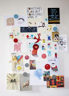 Illustrator Thereza Rowe's inspiration board.