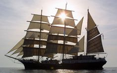 'Tenacious', a UK tall ship purpose-built to accommodate physically disabled people.