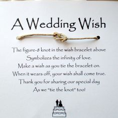 Wedding wish idea