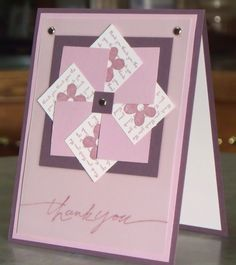 Stampin Up Thank You Cards | Thank You Card, Stampin Up Mini Messages Pinwheel Thanks