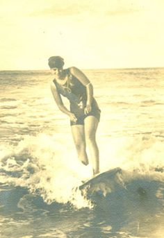 Isabel Letham: Archive photo of Isabel Letham in the early 1900s, who first surfed with Duke Kahanamoku   in a demonstration of the sport of surfing and who later became Australias first champion.  Photo courtesy of the Warringah Shire Library.