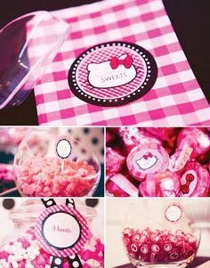 hello kitty candy bar birthday parti, hello kitti, kitti candi, parties, glam pink, kitty party, kitti parti, hello kitty, candi bar