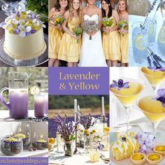 yellow weddings, wedding ideas, lavender weddings, purple flowers, pastel weddings, color stories, color combinations, wedding colors, color scheme