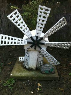 """I fixed this windmill because It was my late grandads and I wanted something to see everyday that reminded me of him. unfortunately not all the wings were found."""