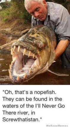 And this is why I don't like to swim in rivers...