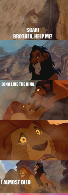 The Lion King relates to Hamlet because, Scar, Mufasa's brother kills Mufasa for power over the land and to be the king. In Hamlet's case, Claudius is Scar and Hamlet is Mufasa. Claudius murdered King Hamlet in order to be king of Denmark. It is crazy what power can do to people, especially brothers.