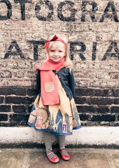 Poppy,   thick cotton dresses work layered up with knitwear made in Nepal for winter 2012