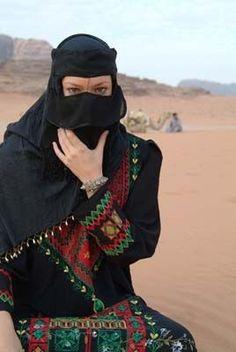 Portrait of a Yemeni woman wearing a niqab