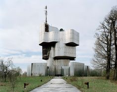 'During the 1960s and 70s, thousands of monuments commemorating the Second World War – called 'Spomeniks' – were built throughout the former Yugoslavia; striking monumental sculptures, with an angular geometry echoing the shapes of flowers, crystals, and macro-views of viruses or DNA. In the 1980s the Spomeniks still attracted millions of visitors from the Eastern bloc; today they are largely neglected and unknown, their symbolism lost and unwanted.""