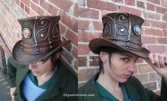curvy goodness in a custom #steampunk #tophat