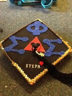 Cute phi sig graduation cap
