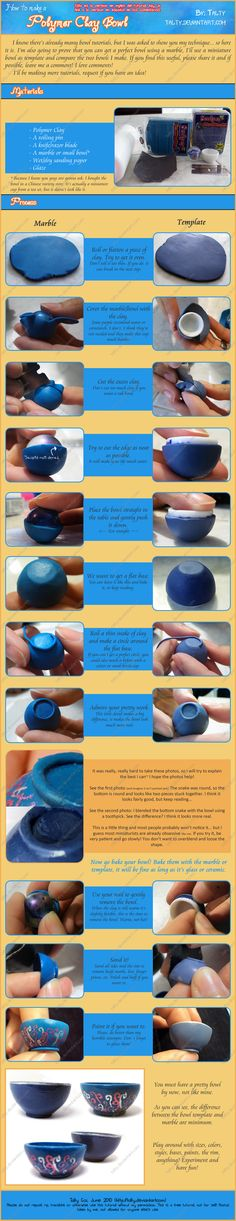 Very good Polymer Clay Bowl Tutorial -by ^Talty on deviantART
