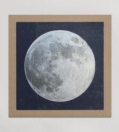 Silver Moon Letterpress Print by Hammerpress on Scoutmob Shoppe