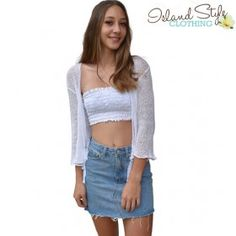 White Sheer Shrug Ca