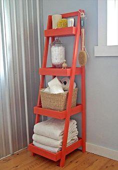 DIY Painter's Ladder Shelf