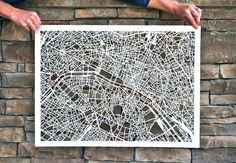 Anthology Magazine | Artwork | Hand-cut Paper Maps by Karen O'Leary