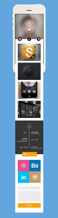 #Mobile #ux #ui #iphone - My Mobile Site by Justin Graham, via Behance - http://dribbble.com/justingraham