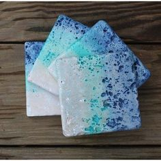 Ombre Washed Tumbled Stone Coasters