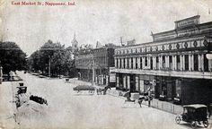 East Market Street, Nappanee, Indiana Postcard