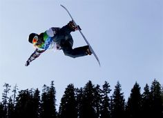 Shaun White, of the U.S., soars through the air during men's halfpipe qualifying at the 2010 Vancouver Olympic Winter Games at Cypress Mountain in West Vancouver, B.C., on Wednesday February 17, 2010