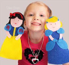 FREE Disney Princess Sock Puppet tutorial- NO SEW!