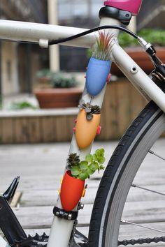Bike planters, too cute,