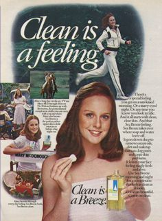 """Sea Breeze ad with Mary McDonough, actress who played Erin on """"The Waltons."""""""