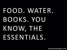 The bookish essentials! Yes. Important.