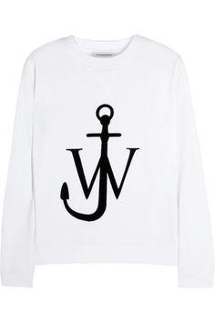 J.W.AndersonFlocked cotton-jersey sweatshirt