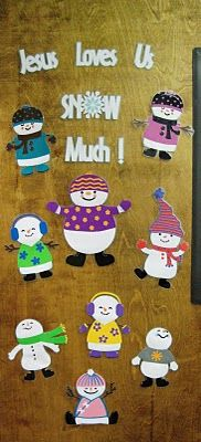 Luv Scrapping Together: Classroom Door Winter Decor