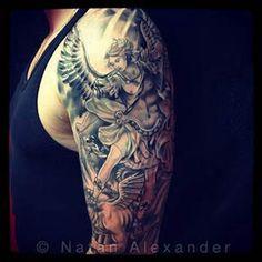 Tattoo ideas on pinterest polynesian tattoos saint for Tattoo removal columbus ohio cost