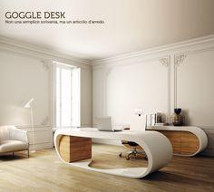 Scrivania direzionale in legno Goggle Desk - Babini