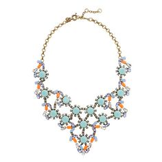 J.Crew Pastel and Neon Statement Necklace