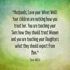 A note to husbands...