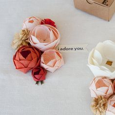 Pretty DIY paper flowers - @Anna Miller this makes me think of you now