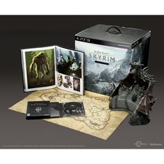 Skyrim Collector's Edition.    Bought this for my other half ;) Super awesome thing for the most awesome pal ever! But this so-called Collector's Edition, could have been more value-added by adding limited edition merchandise like t-shirt, lanyard etc.    Still, the dragon figurine is super fine~ Hehe.