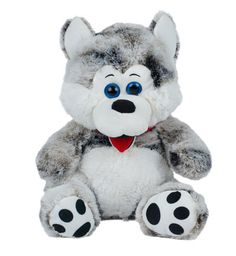 Give your child a sensory stimulating, happiness-provoking experience with our irresistibly soft and cuddly vibrating stuffed toy Husky.