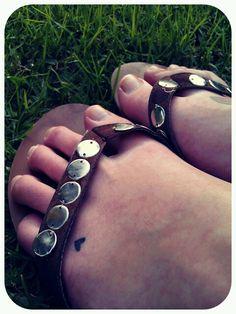 Heart #tattoo #foot