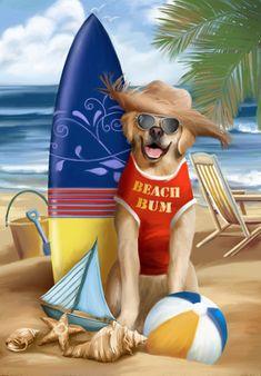 Beach Bum.     Thomas Wood