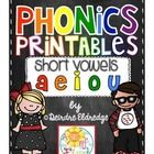 Phonics printables - short vowels!! Perfect for the beginning of the year!